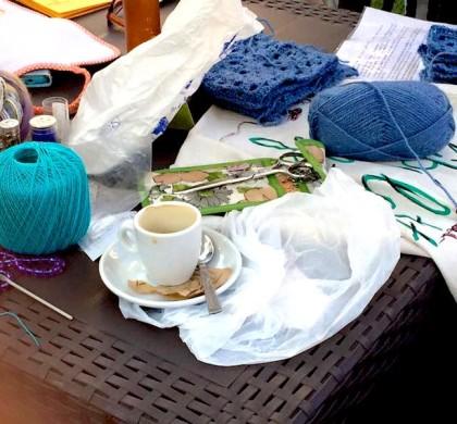 Margherita bratti viacalimala art room Eccellenza artigiana Torino Piemonte Antonella Donadone psicologia psicologa conferenza hobby knitters knit-caffe knit ferri uncinetto stress