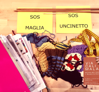 """SOS maglia e uncinetto"""" una lezione di ripasso""""!"""