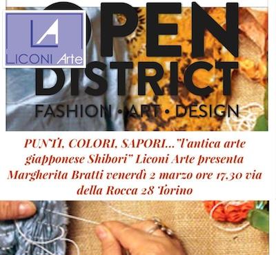 """Margherita Bratti """"PUNTI COLORI SAPORI"""" – 1 – 4 marzo OPEN DISTRICT.TO"""