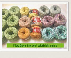 filato Viacalimala tinto con i colori dalla natura