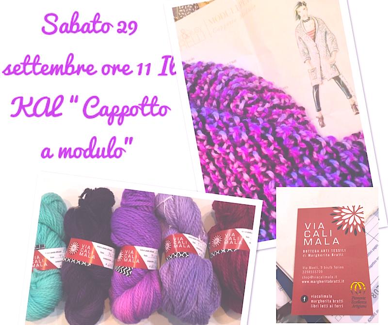 """Sabato 29 settembre il KAL """" Cappotto modulo"""" di Giuliano&GiusyMarelli a VIACALIMALA"""