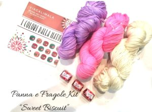 Viacalimala Kit sweet biscuit panna e fragole