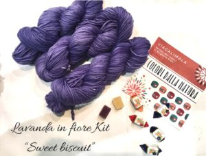 Viacalimala kit sweet biscuit lavanda in fiore