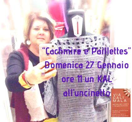 Cachmire e Paillettes a VIACALIMALA