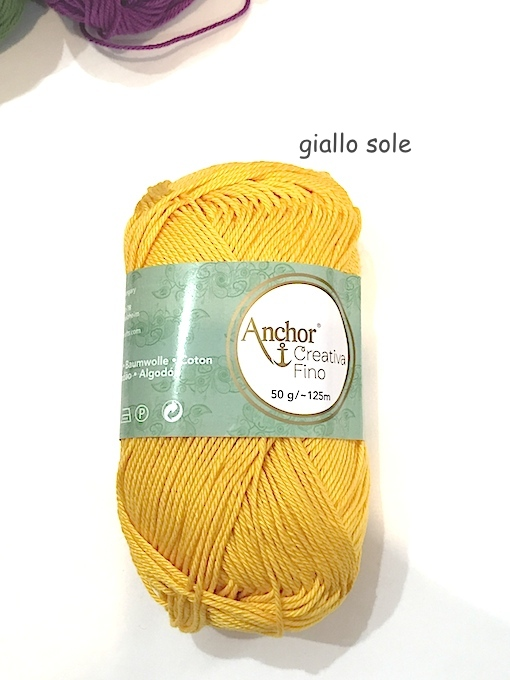 VIACALIMALA filati Anchor giallo sole