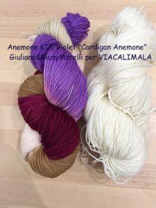 Anemone KIT Violet Cardigan Anemone Giuliano&GiusyMarelli per VIACALIMALA